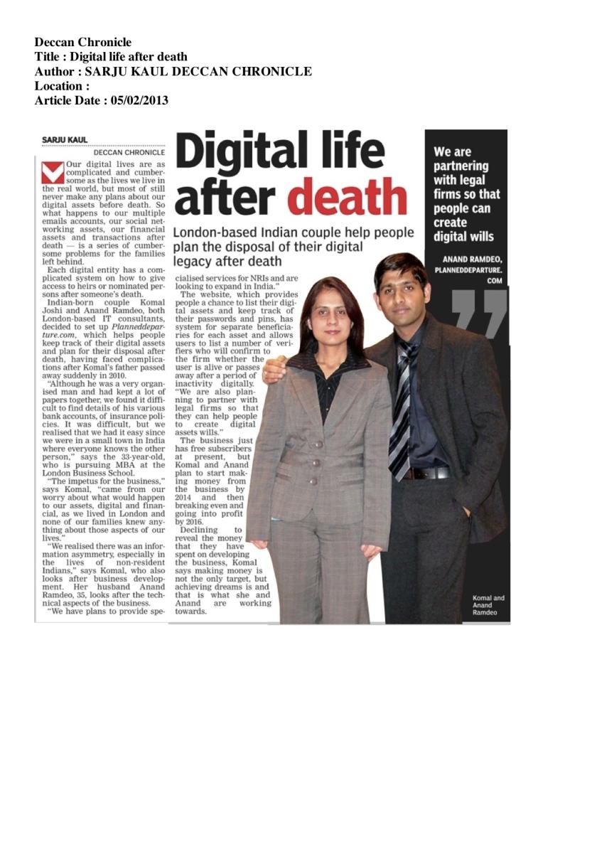 Digital Death is mainstream